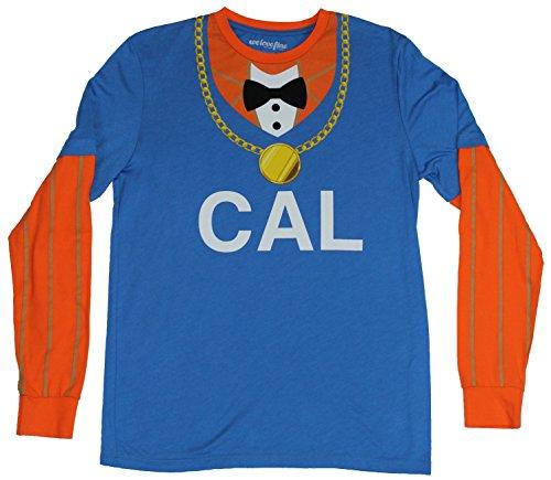 [Homestuck Mens T-Shirt - Lil Cal Costume Front Image (Medium) Gray] (John Homestuck Costumes)