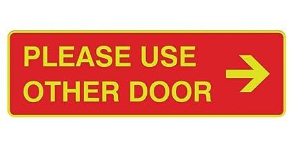 Signs ByLITA - Señal de flecha para puerta derecha: Amazon ...