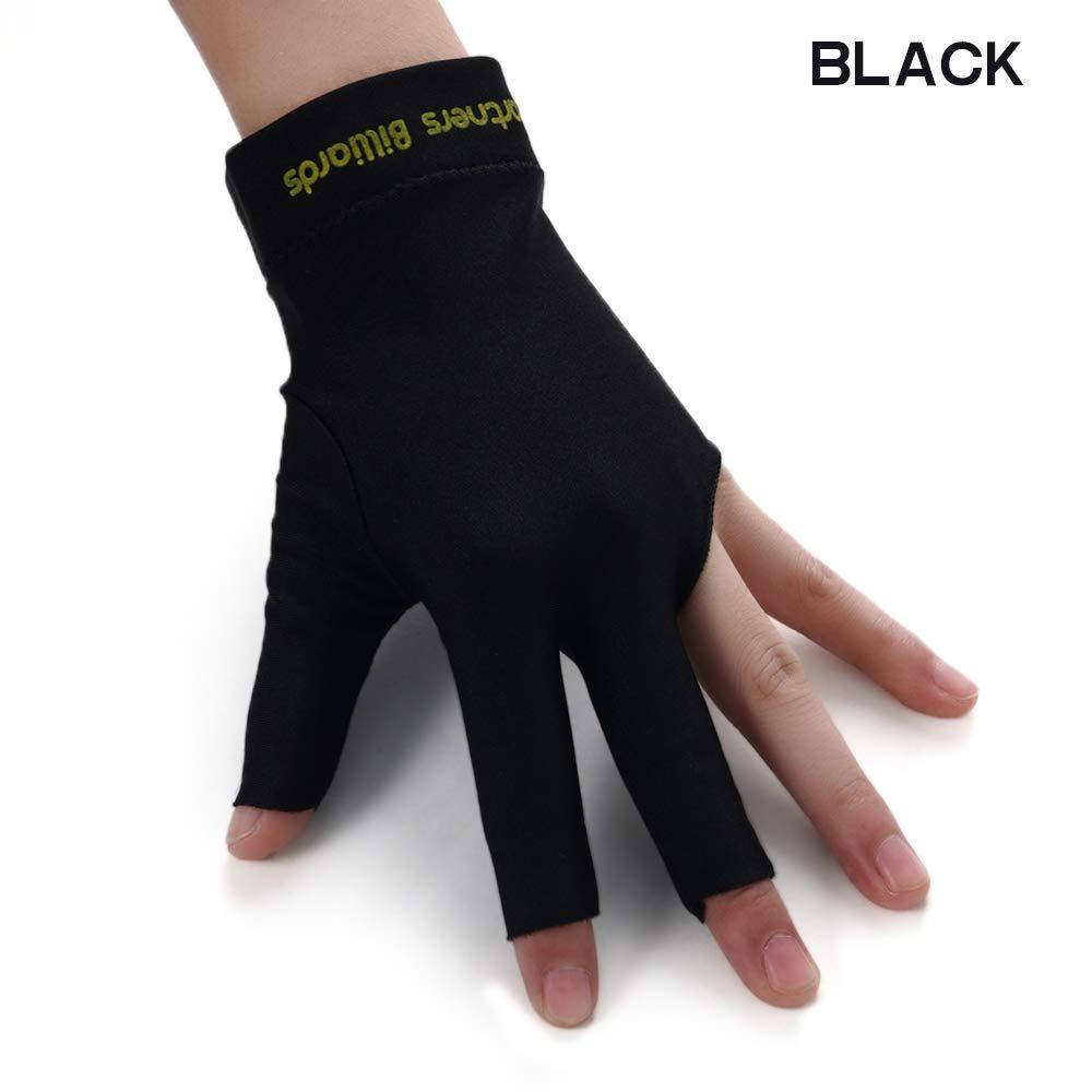 Cue Pool Sport Spandex Snooker Left Hand Open Three Finger Grey flierhoo Billiard Gloves