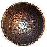 35 cm Fire Burnt Hand Hammered Copper Bathroom Sink Toilet Lavatory Dome Basin Egypt gift shops