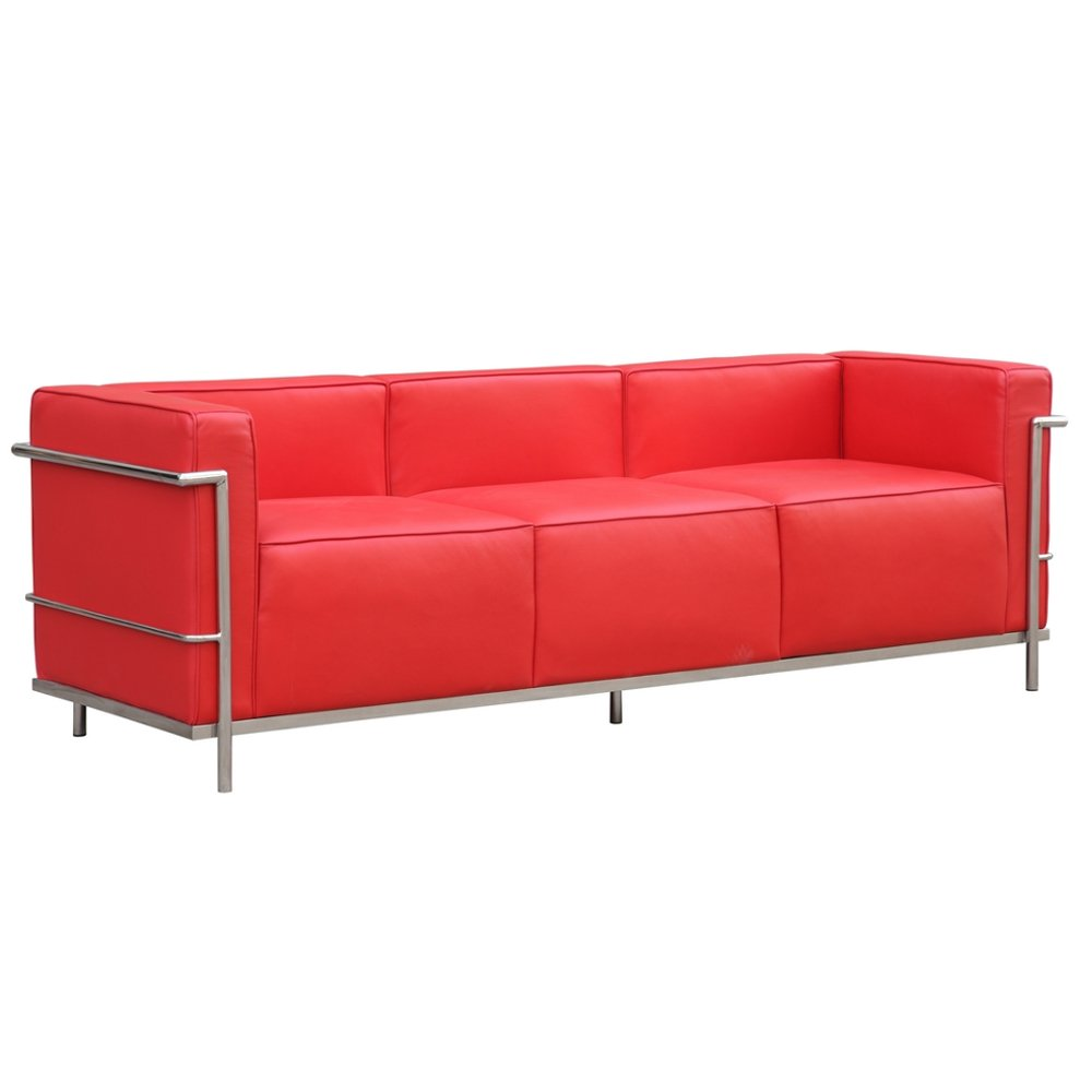 Fine Mod Imports FMI2204-red Grand Lc3 Sofa, Red