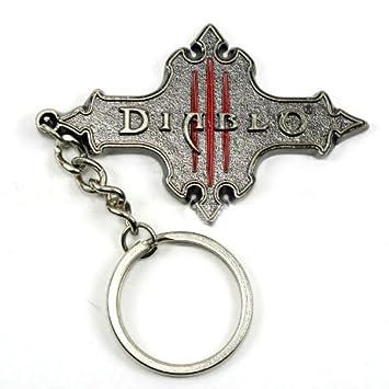 Diablo III 3 Logo de metal llavero colgante: Amazon.es ...