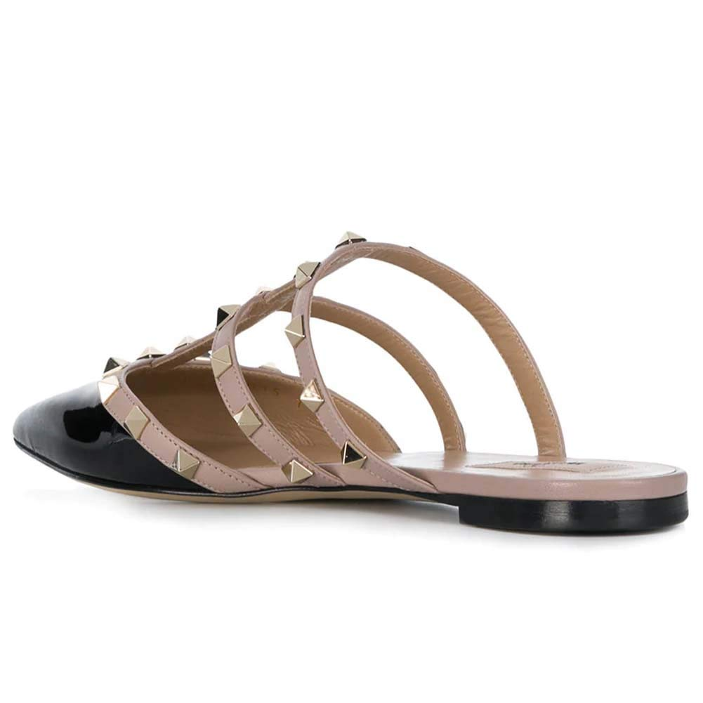 15df7eba70 Amazon.com | Kmeioo Mules for Women, Rivet Mule Shoes Pointed Toe Studded  Strappy Flat Sandals Slip On Loafer Slides | Mules & Clogs