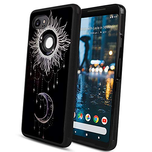 (YaoLang Google Pixel 2 XL Phone Case use PC and TPU Material Design by Sun and Moon)