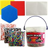 8,500 Melty Ironing Beads DIY Kit with 3 Pegboards and 2 Re-usable Ironing Paper