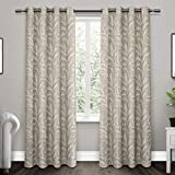 Exclusive Home Kilberry Woven Blackout Window Curtain Panel Pair with Grommet Top 52x96
