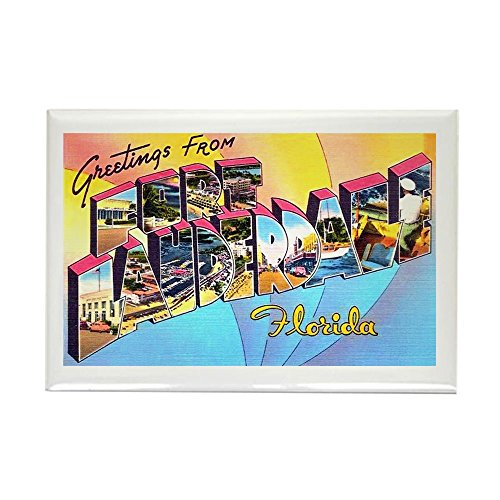 CafePress - Fort Lauderdale Florida Greetings - Rectangle Magnet, 2