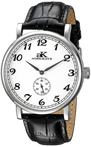 Adee Kaye Men's AK9061N-M/SV Vintage Mechanical Analog Display Mechanical Hand Wind Black ()