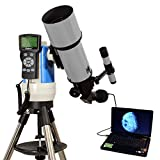 Silver 80mm Computer Controlled Refractor Telescope with 3MP Digital USB Camera