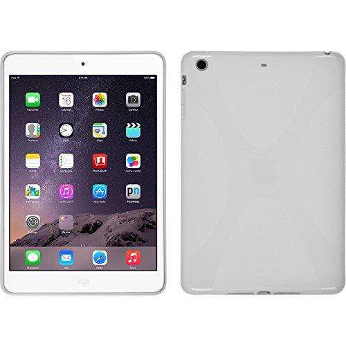 PhoneNatic Silicone Case Compatible with Apple iPad Mini 3 2 1 - X-Style White Cover + Protective foils