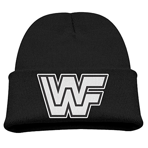 wwf-logo-boy-girl-skull-hat-beanies-cap-black