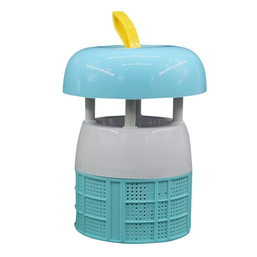 lotus.flower Mosquito Killer Home Electric Fly Bug Mosquito Insect Killer Trap Lamp Pest Control LED Light (Blue)