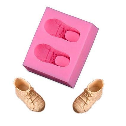 Molde de silicona para tartas, forma de zapato deportivo, creativo, decoración de bricolaje
