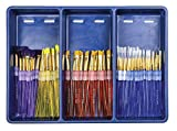 Royal Brush Big Kid's Choice Brush Bonus Specialty Classroom Pack, Assorted, Set of 72 Brushes and 12 Aprons