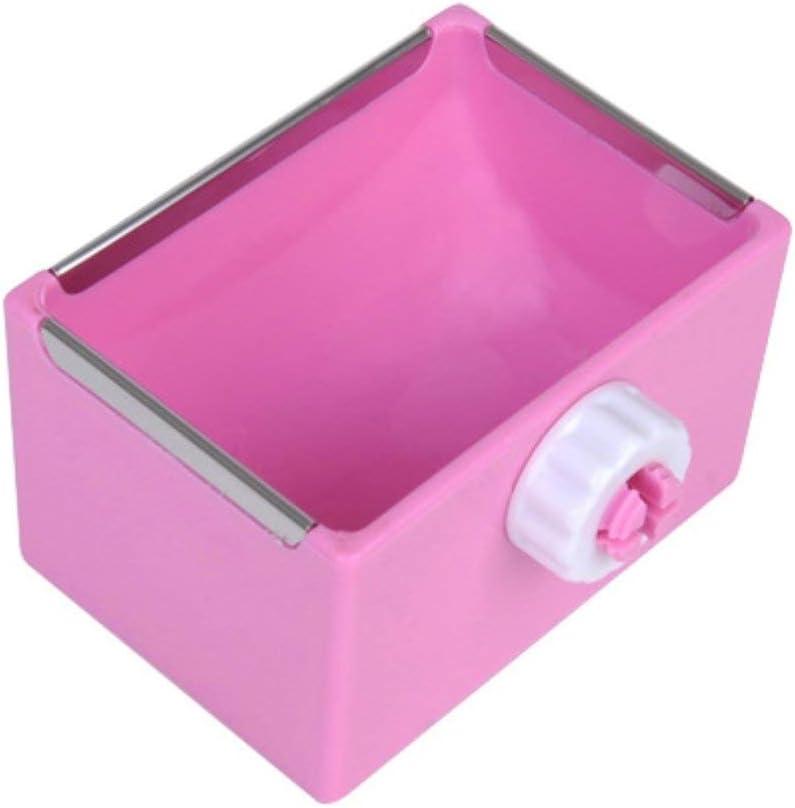 Small Pet Feeder Food Water Bowl Cage Hanging Dish for Birds Parakeet,Dwarf Syrian Hamsters,Hadgehog,Gerbils,Rats,Mice,Gerbils,Mini Small Animals (Pink)