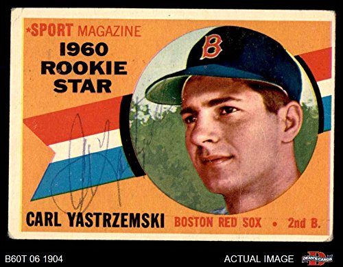 1960 Topps # 148 Rookie Star Carl Yastrzemski Boston Red Sox (Baseball Card) Dean's Cards AUTOGRAPHED Red Sox