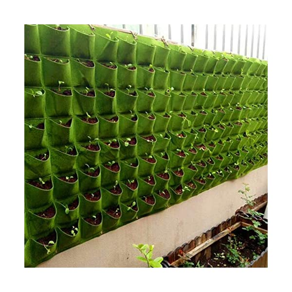 Starry sky Wall Hanging Piantare Borse 18/36/49/72 Tasche Green Grow Bag Planter Verticale Orto Living Garden Bag Fiori… 6 spesavip