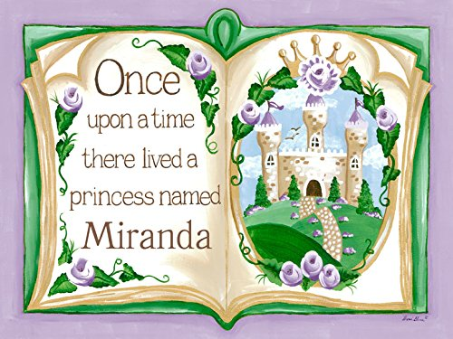 Once Upon a Time Storybook Lavender by Sherri Blum - Personalized Canvas Wall Art, 24