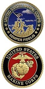 United States Marine Corps Semper Fidelis Challenge Coin