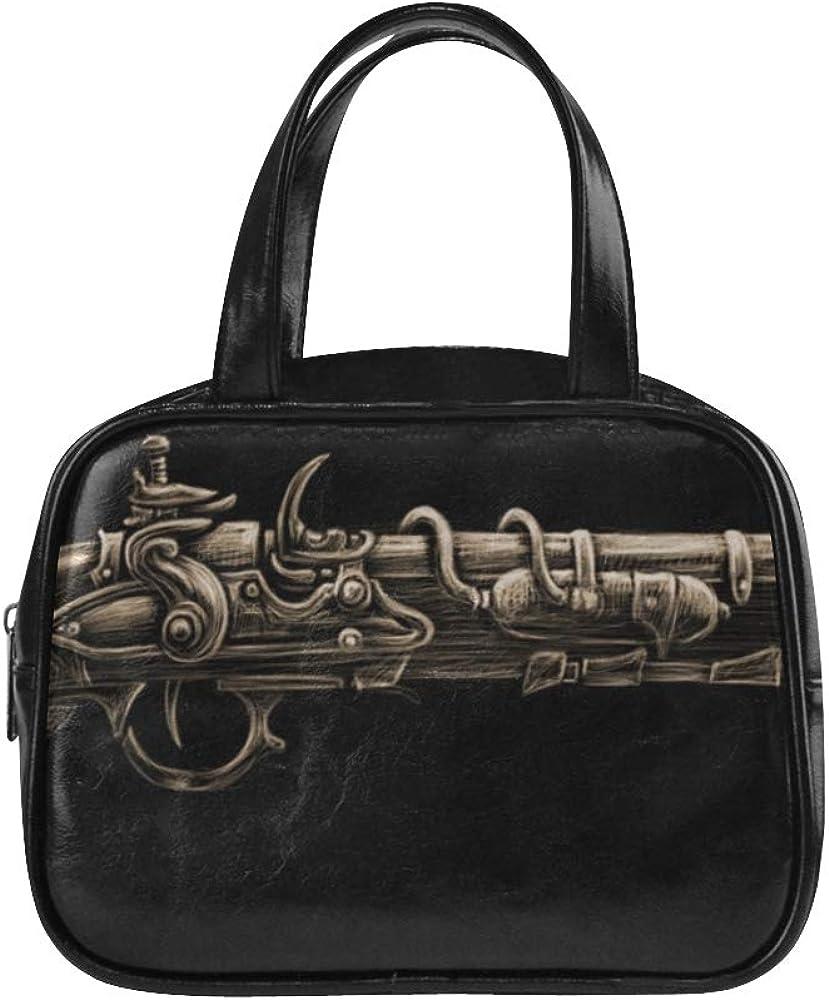 Casual Handbag Kill Weapon Revolver Fashion Bag For Girls Zipper Tote Bags Pu Leather Top Handle Satchel Woman Tote Bag
