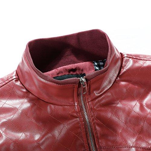 Tanming Men's Color Block Slim Casual Thin Lightweight Jacket
