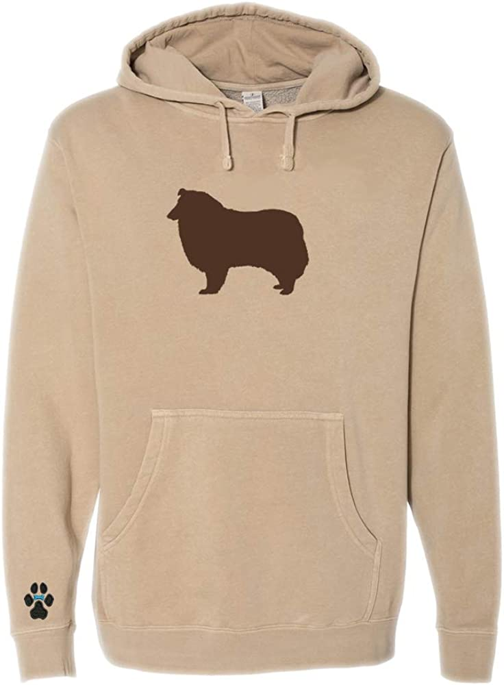 Heavyweight Pigment-Dyed Hooded Sweatshirt with/Collie Silhouette