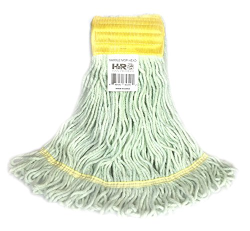 Hero Recycled Saddle Cotton Mop Head, Industrial and Commercial Mop Head Replacement, Extremely Durable and looped ended