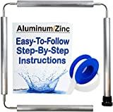 Aluminum Zinc Flexible Anode Rod for Water Heaters Without Socket  Includes Teflon Tape  44 Inches Long 0.75' Diameter GET RID of Stinky Sulfur Rotten Egg Smelly Water!