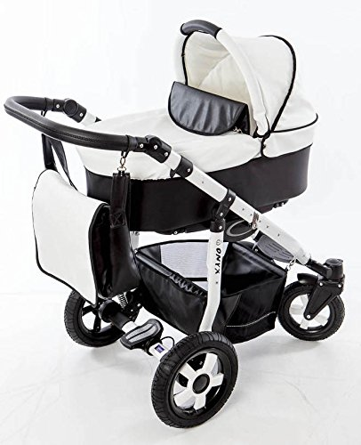 Carro Bebe 3 Piezas De Piel Ultraligero Diseño Aluminio Polipiel