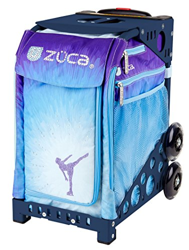 Zuca Ice Dreamz Sport Insert Bag and Navy Blue Frame with Flashing Wheels by ZUCA