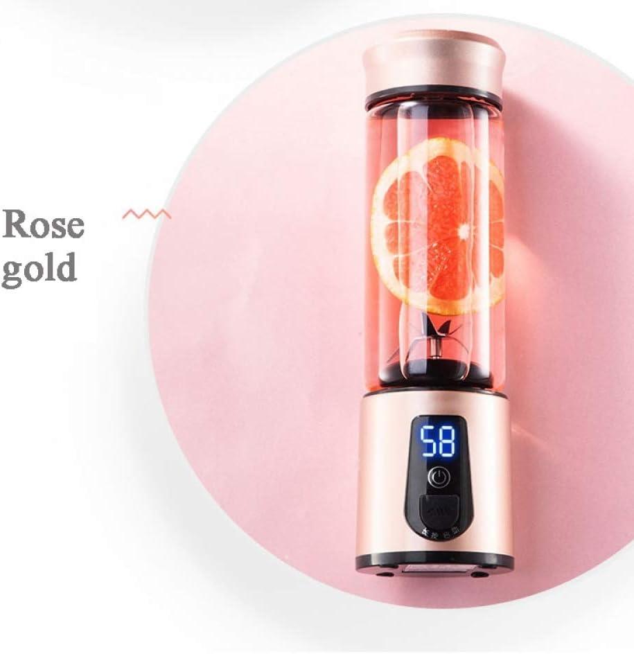 Grea Mini Mezcladores Portátil USB Exprimidor eléctrico Licuadora Extractores de Fruta Comida Batido Multifunción Botella Deportiva Juicing Cup, Plata Gold