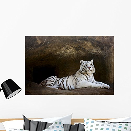 - Wallmonkeys White Tiger Wall Mural Peel and Stick Graphic (36 in W x 24 in H) WM44313