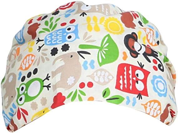 gorra de trabajo unisex algodón estampado bosque gorro de belleza para hombres mujeres mantener el cabello limpio gorra de trabajo: Amazon.es: Ropa y accesorios