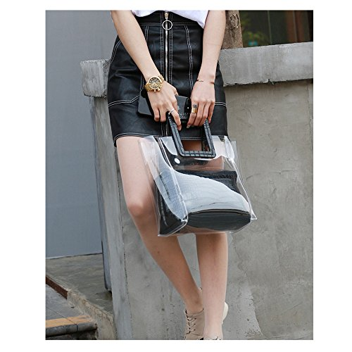 Shoulder FANCY Bag impermeabile Crossbody LOVE Classy 3 trasparente secchio Beach Tote qfPSqn0