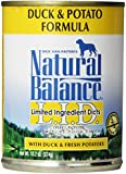 Natural Balance Duck and Potato Formula Dog Food (Pack of 12, 13.2-Ounce Cans)