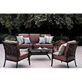 Darlee St. Cruz 4 Piece Outdoor Sofa Set In Antique Bronze