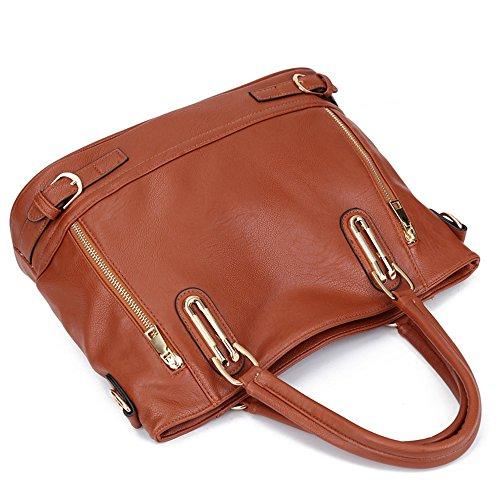Pahajim - Bolso mochila  de Piel para mujer blanco