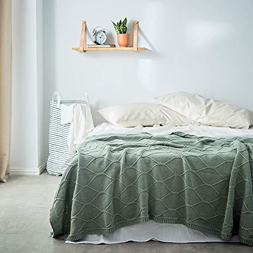 Yunyilian 綿ニット毛布綿ニット毛布ソファ毛布スレッド毛布フォーマットテクスチャ家の装飾 (Color : 青, サイズ : 130*180cm) B07RJHYMGS 青 130*180cm