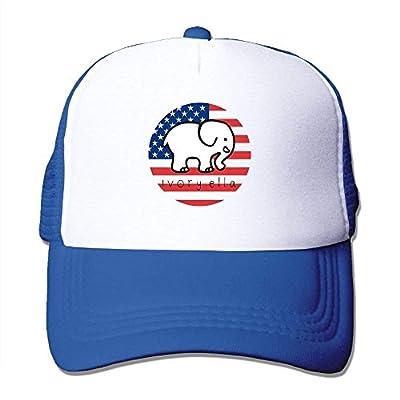 Ivory Ella Adjustable Mesh Trucker Hat Stylish Snapback Baseball Cap from cxms