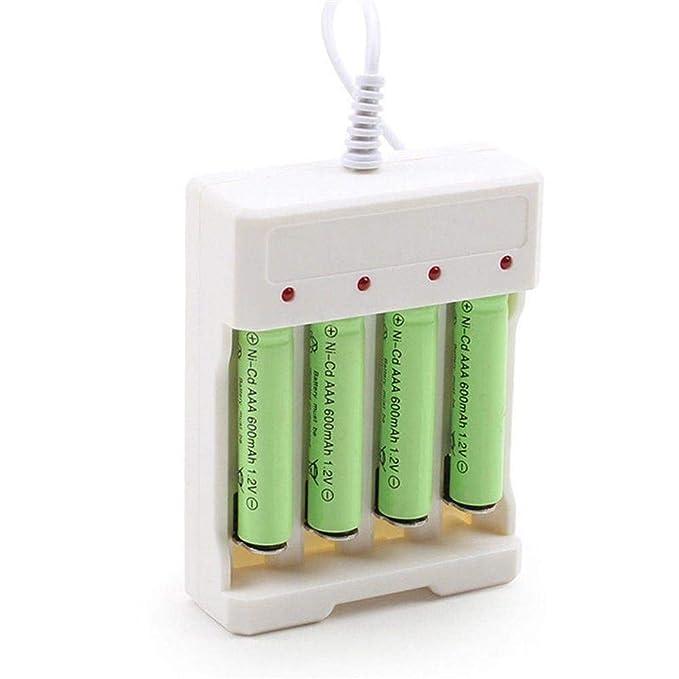Amazon.com: Singa-z Cargador de batería AA/AAA 4 Ranuras de ...