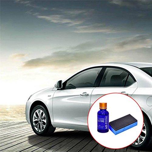 Car Super Hydrophobic Glass Coating Car Liquid Ceramic Coat Auto Paint Care 9H Hardness 30ML by SMYTShop