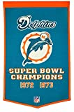 Winning Streak Miami Dolphins Official NFL 24 inch x 36 inch DYNASTY BANNER 770850