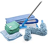 Microfiber Cleaning Kit | Everything You Need for Floors, Dusting, Windows, Kitchen, Bathroom | Mops, Towels, Duster