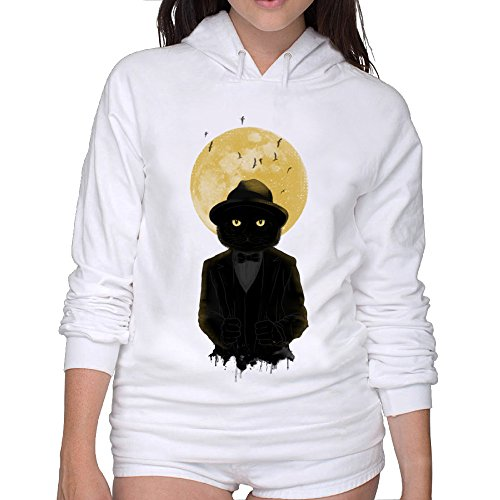 Cool Hoodies Full Moon Cat Woman Cool (3 Gpm Cat)