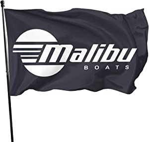 AUISHDNA 3x5 Foot Flag Malibu Boats Motor Sport JDM Wake Board Flag Vivid Color and UV Fade Resistant with Brass Grommets 3 X 5 Feet 3x5'' Flag