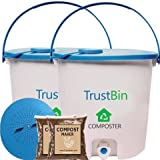 Trust Basket Trustbin (Set Of Two 14 Ltrs Bins)-Indoor Compost Bin For Converting All Kinds Of Kitchen Food Waste Into Fertilizer