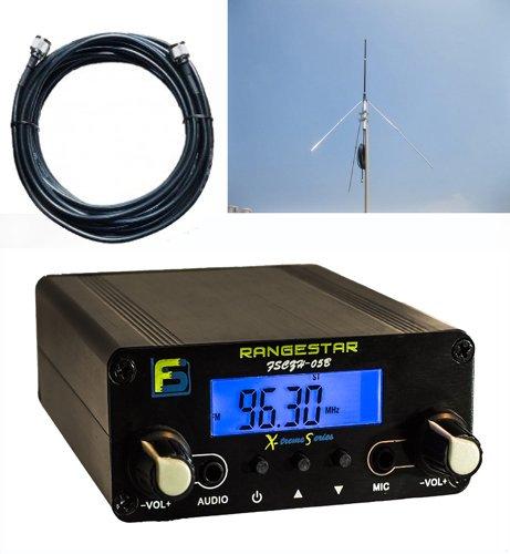 Bundle Deal: Fail-Safe 0.5 W Long Range FM Transmitter + RangeBooster 2.0 Professional Grade Antenna Kit + Professional Grade Cable ($300 Dollar (Whole House Fm)