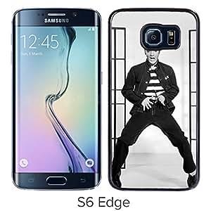 Newest Galaxy S6 Edge Case,Elvis Presley Black High Quality Hot Sale Samsung Galaxy S6 Edge Phone Case