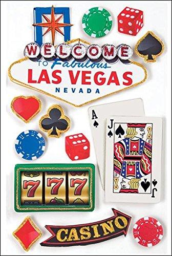 Las Vegas Cardstock Stickers - Paper House Productions STDM-0029E 3D Cardstock Stickers, Las Vegas (3-Pack)