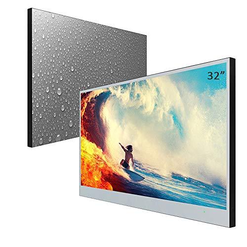 Soulaca Slimme Spiegel Badkamer-TV 32-inch IP66 waterdichte met Wi-Fi, Geïntegreerde Luidsprekers